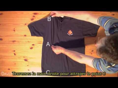 Comment plier un t shirt en 2 secondes - Comment plier un t shirt ...